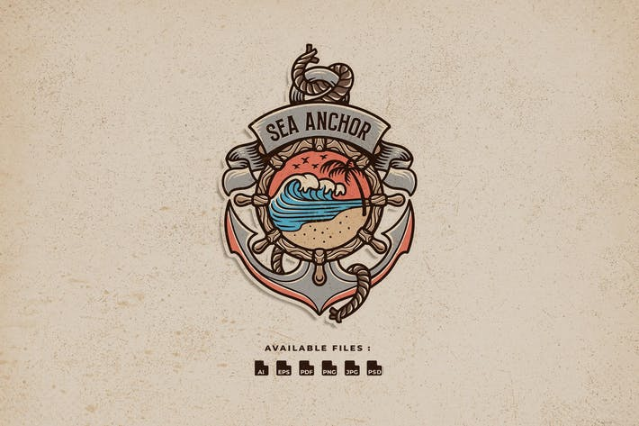 Thumbnail for Sea Anchor Hand Drawn Logo