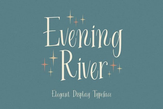 Evening River - Elegant Display Typeface