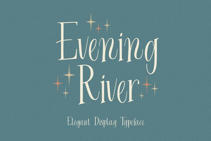Вечерняя река - Элегантный шрифт дисплея