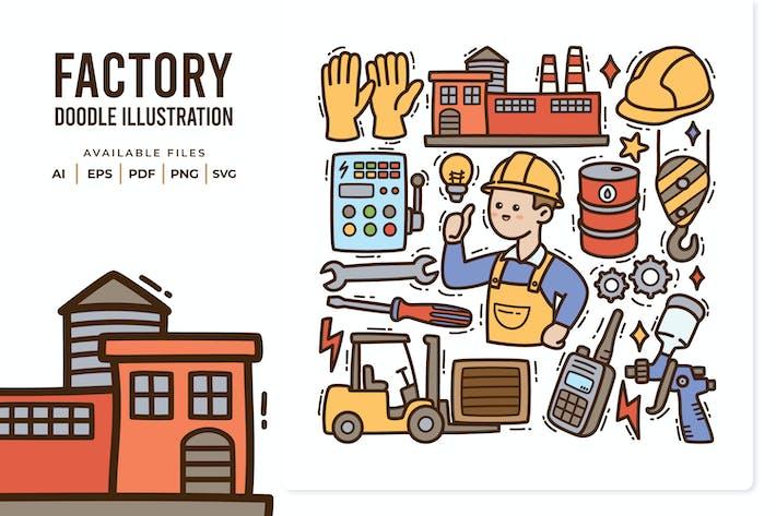Иллюстрация фабрики Doodle