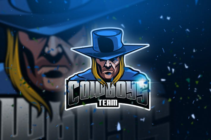 Thumbnail for Cowboys - Mascot & Esport Logo