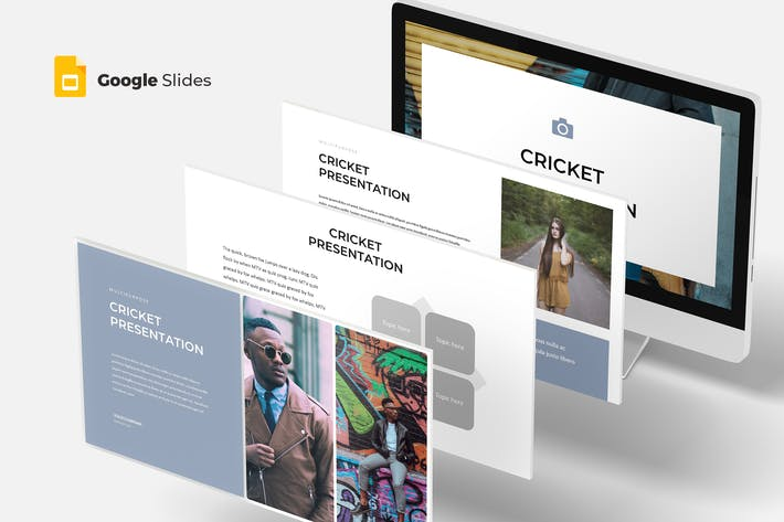 Cover Image For Cricket - Google Slides Template