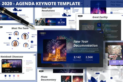 2020 - Шаблон Keynote по повестке дня