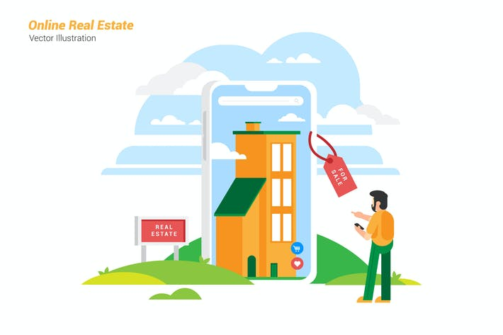 Online Real Estate - Vector Illustration