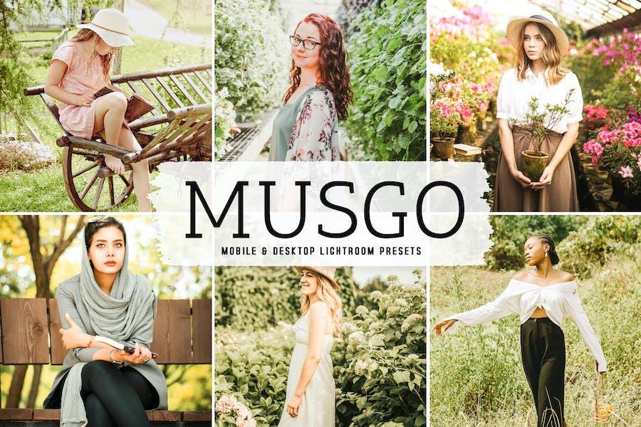 Musgo Mobile & Desktop Lightroom Presets
