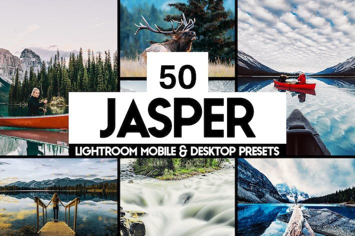 Thumbnail for 50 presets y LUTs de Jasper Lightroom