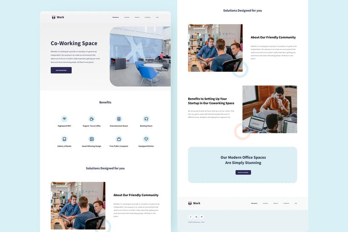 Thumbnail for Co-working Space Landing Page