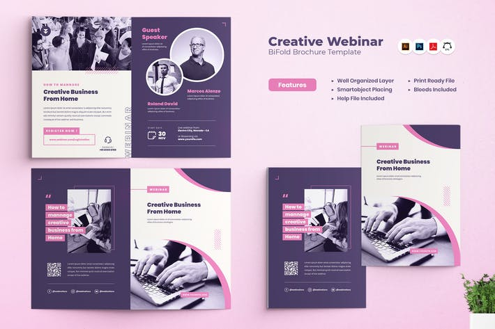 Thumbnail for Creative Webinar Bifold Brochure