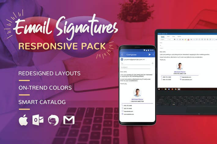 Email Signatures by brandifystudio on Envato Elements
