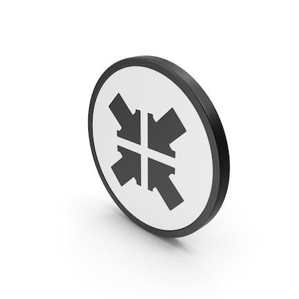 Botón de flecha de icono