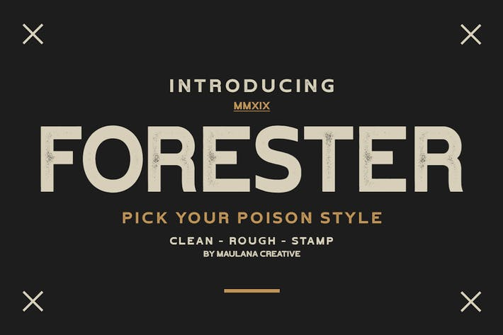 Thumbnail for Forester Vintage Sans Serif