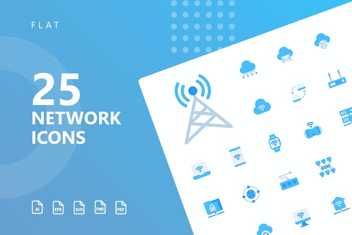 Thumbnail for Network Flat Icons