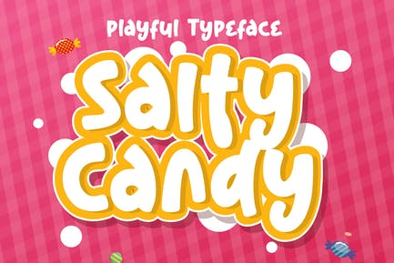 DS Salty Candy - Playful Typeface