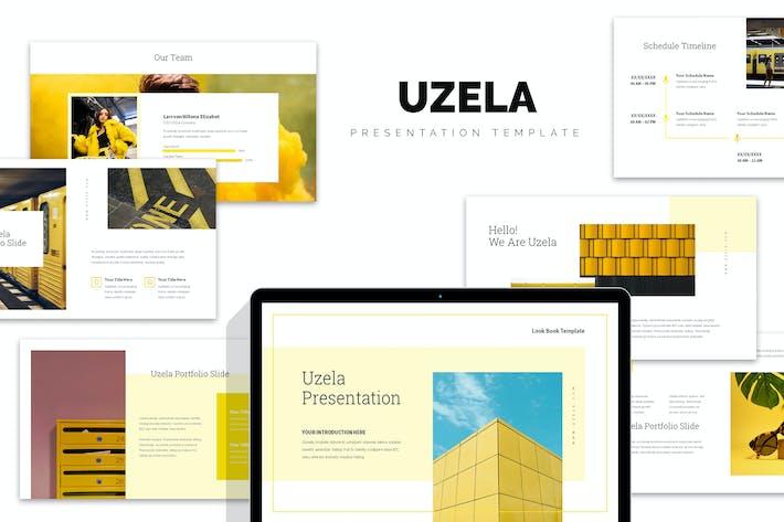 Uzela : Yellow Gradient Color Tone Keynote