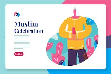 Célébration du ramadhan musulman ou de l'Aïd