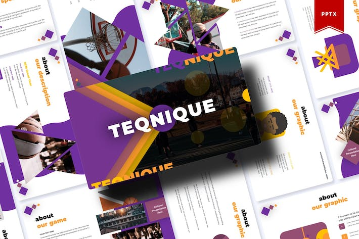 Thumbnail for Teqnique | Powerpoint Template
