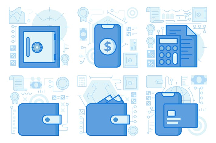 Thumbnail for Mobile Credit Card Payment UI UX Illustrations
