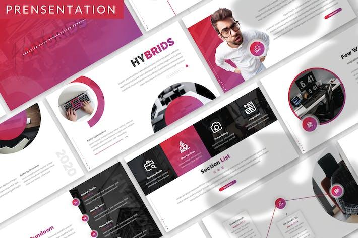 Thumbnail for Гибриды - Шаблон бизнес-презентации