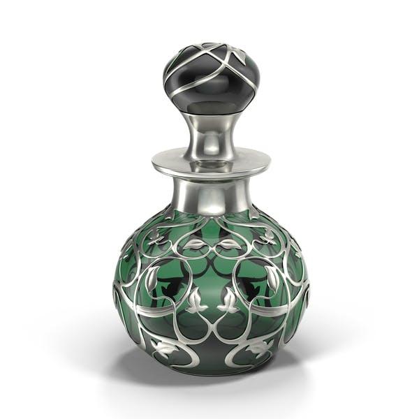Бутылка для духов зеленый