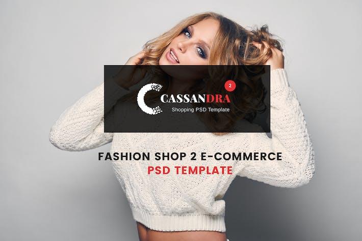 Thumbnail for Cassandra - Fashion SHop 2 e-commerce PSD Template
