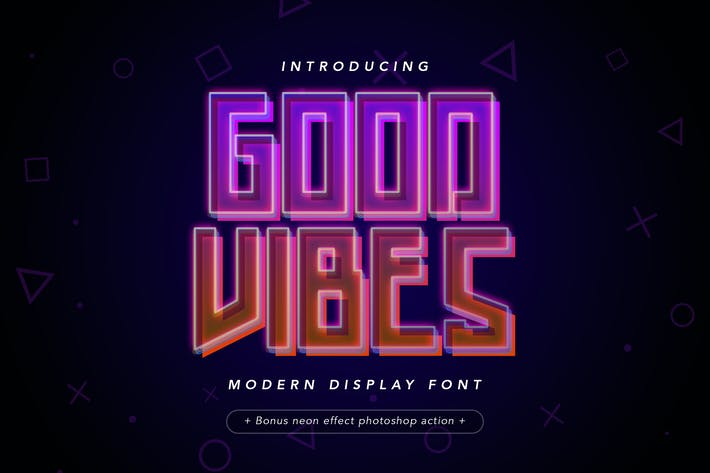 Thumbnail for Good Vibes - Modern Neon Display Font