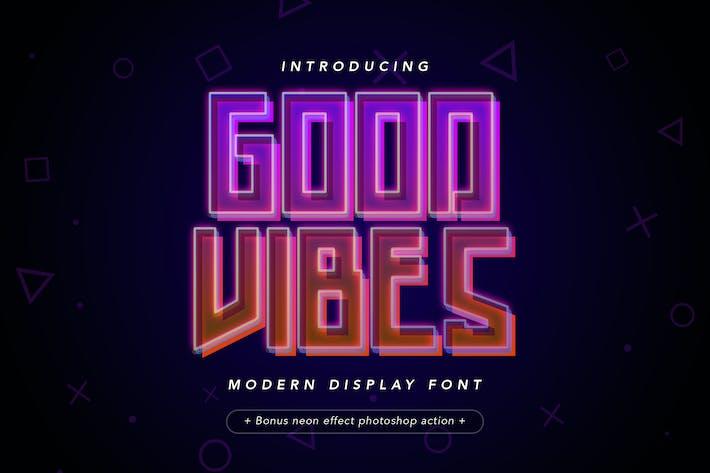 Thumbnail for Good Vibes - Moderne Neon Display Police