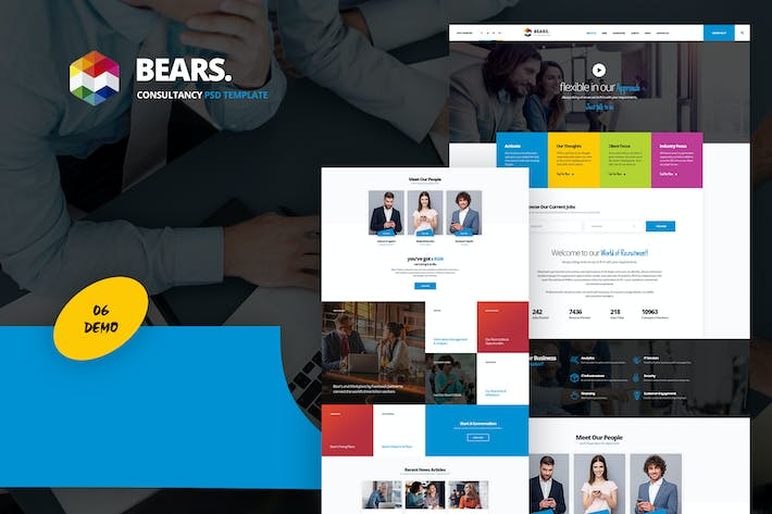 Thumbnail for Bear's - Consultancy & Business  PSD Template