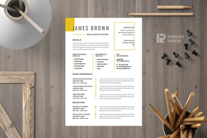 Thumbnail for Minimalist CV  Resume R19 Template