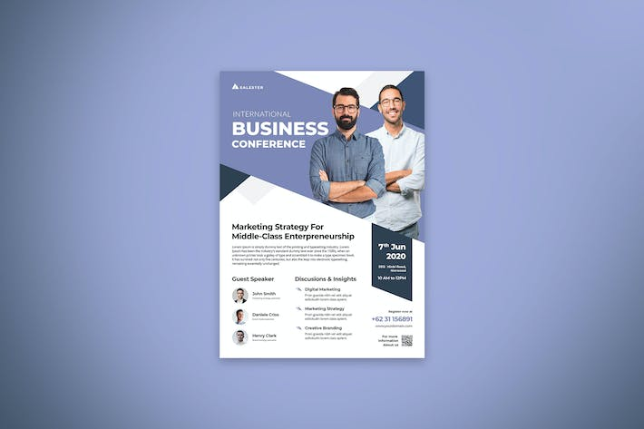 Thumbnail for Business Conference Flyer Template Vol.3
