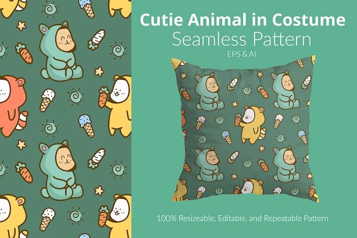 Cutie Animal in Costum Pattern