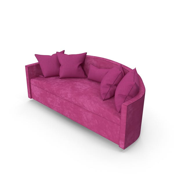 Фуксия диван гостиная