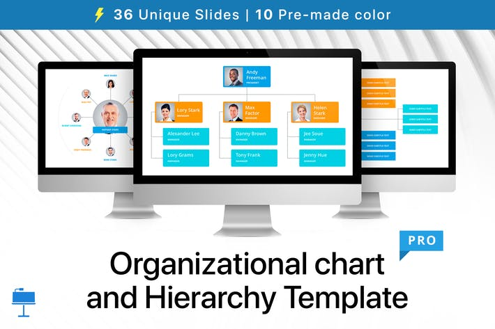 Thumbnail for Organizational chart and Hierarchy Template