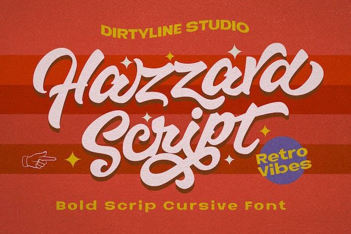 Hazzard - Logotipo de guión en negrita