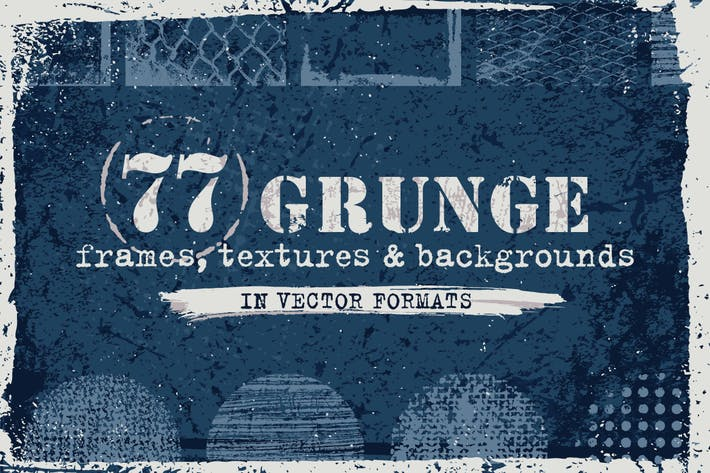 Thumbnail for Vector Grunge Textures, Backgrounds, Frames Set