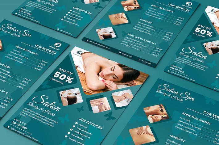 Thumbnail for Salon Beauty Health Two Sided Price List Flyer