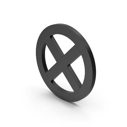 Symbol X Mark Black