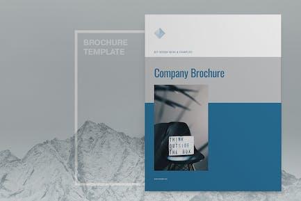 Blue Company Brochure Layout