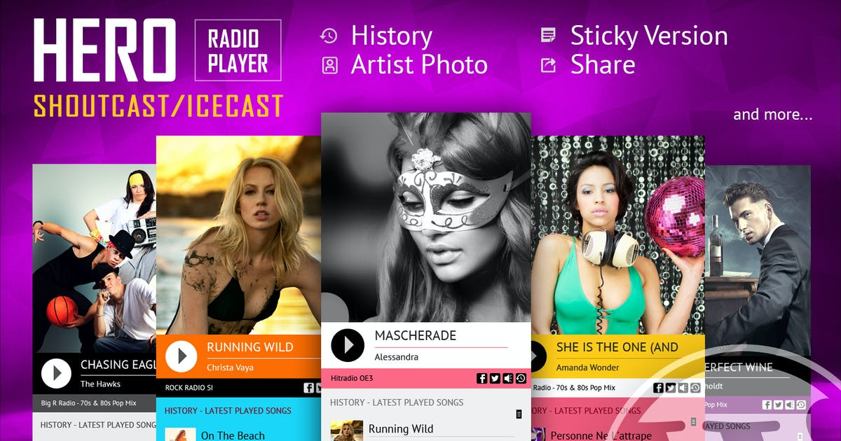 Download Hero - ShoutCast and IceCast Radio Player by LambertGroup