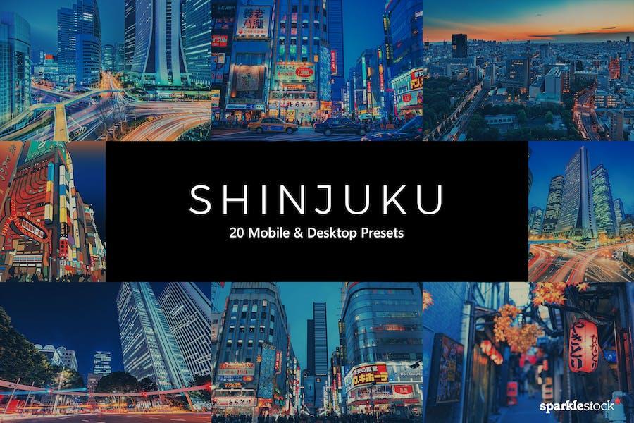 20 Пресеты Lightroom Shinjuku и LUTS