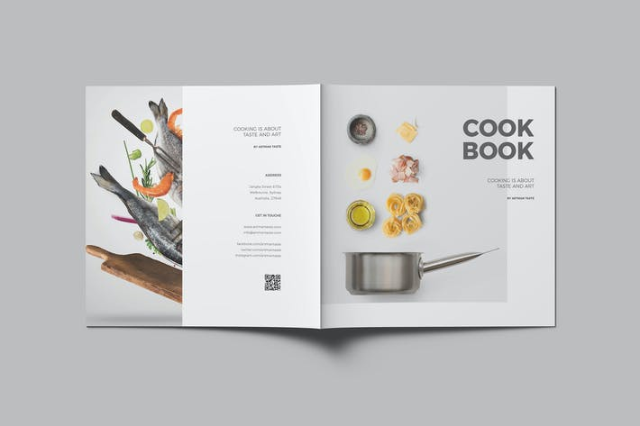 square cookbook by meenom on envato elements