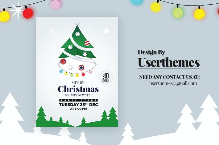 Thumbnail for Christmas Party Sale Flyer Template