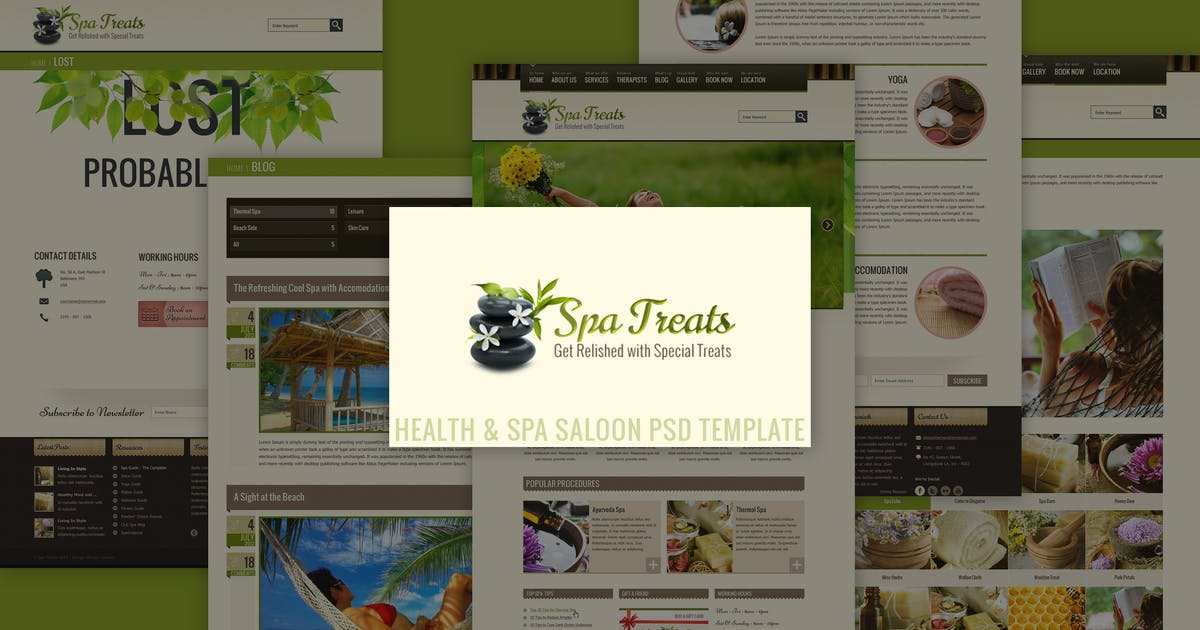 Download Spa Treats - Health & Spa Saloon PSD by designthemes