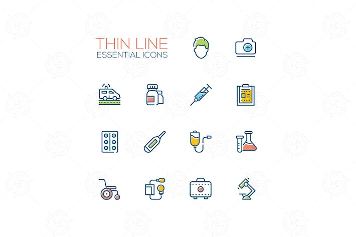 Thumbnail for Medical equipment- modern vector thin line icons