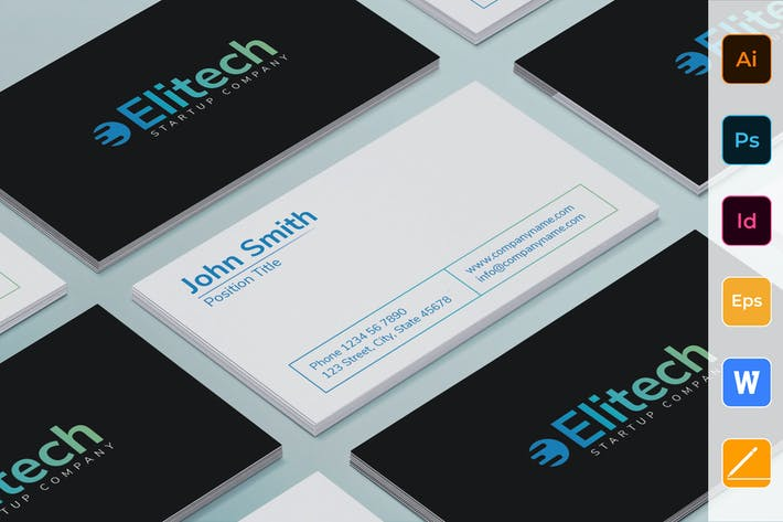 Thumbnail for Tech Startup Business Card