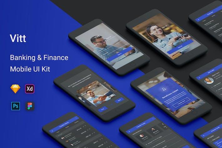 Thumbnail for Vitt - Banking & Finance UI Kit