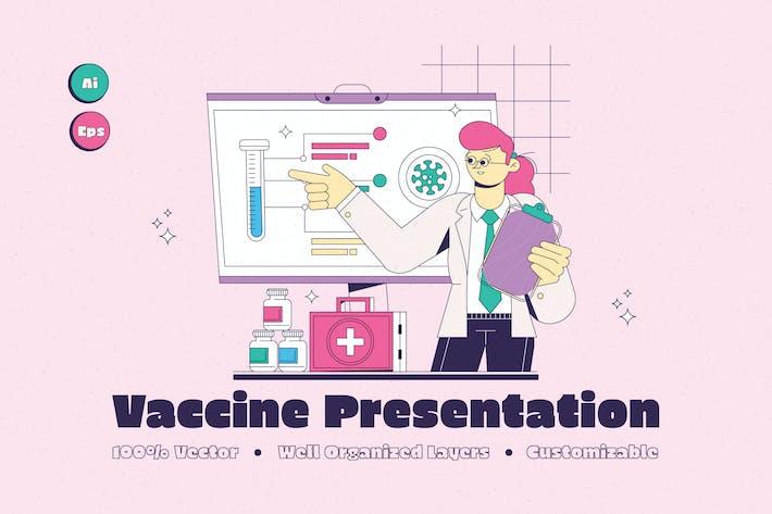 Иллюстрация презентации вакцины