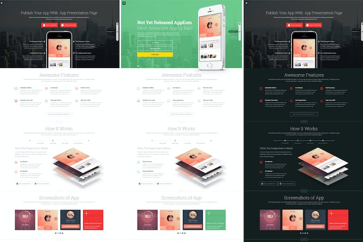 Thumbnail for App on - Responsive App Landing HTML Page