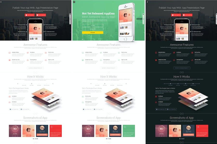 App on - Responsive App Landing HTML Page