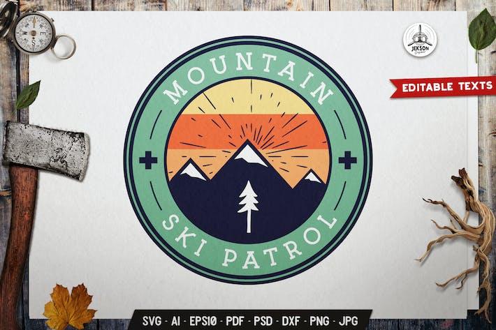 Thumbnail for Mountain Ski Patrol Emblem Outdoor Badge SVG
