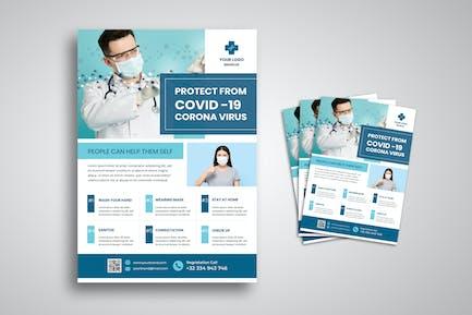 Corona Covid 19 Campaign Flyer